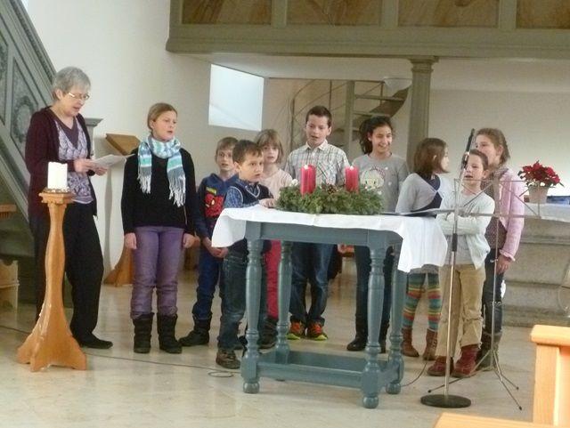 Adventsgottesdienst gemeinsam mit den Primarschülern