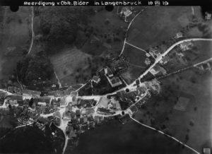 1919 Luftaufnahme Begräbnis Oskar und Leni Bider