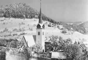 1933 Sicht auf die Kirche vom Süden