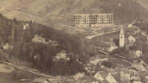 1874 Kirche mit Kurhaus